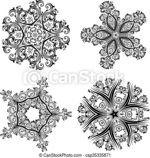 dekoratív, virágos, díszítés - csp35335871