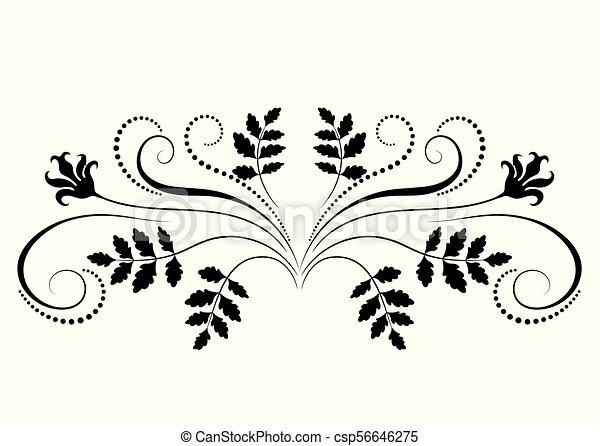 dekoratív, virágos, díszítés - csp56646275