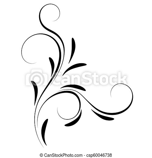 dekoratív, virágos, díszítés, sarok - csp60046738