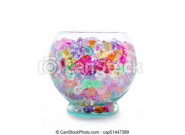glas sten dekoration