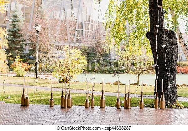 Dekoration Goldene Hochzeit Flaschen Gasthaus Goldenes Flaschen