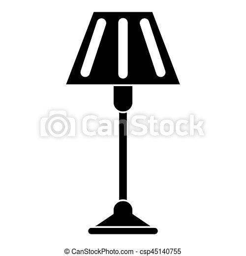 Dekoration, lampe, boden, piktogramm. 10, boden, piktogramm ...