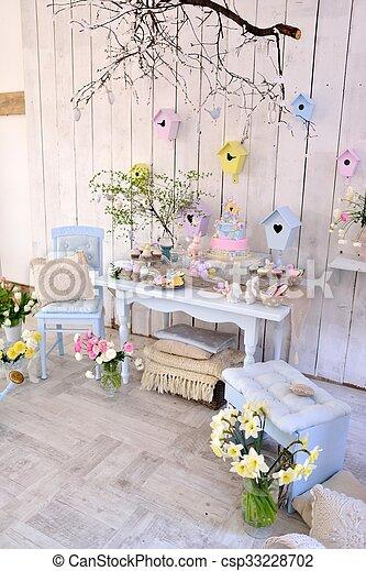 Dekoration Ostern.Dekoration Ostern Zimmer Pastell Eier Kaninchen Zimmer