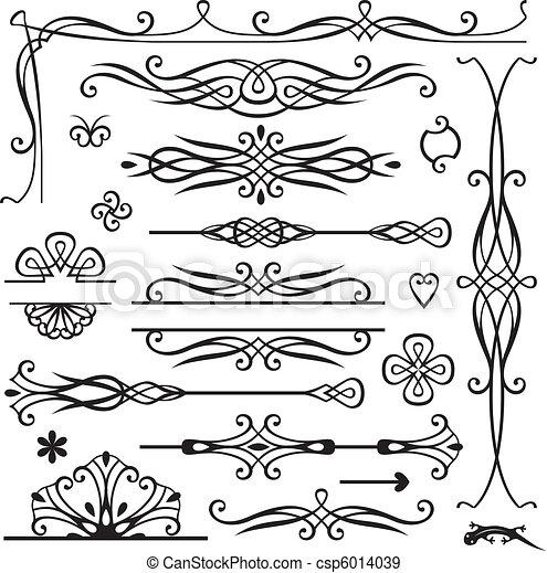 dekoration, retro, seite - csp6014039
