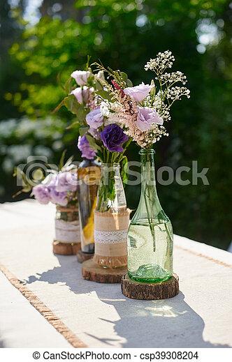 Dekoration Tisch.Dekoration Tisch Blumen Flasche Wedding Dekoration