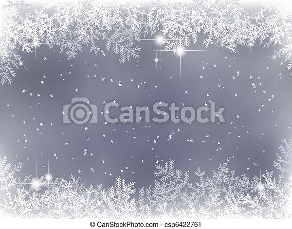 dekoration, vinter, bakgrund, jul - csp6422761
