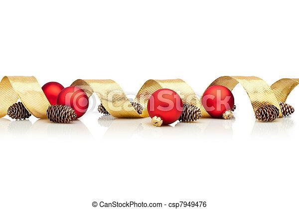 dekoration, weihnachten - csp7949476