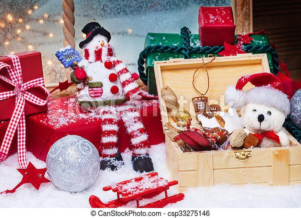 dekoration, weihnachten - csp33275146