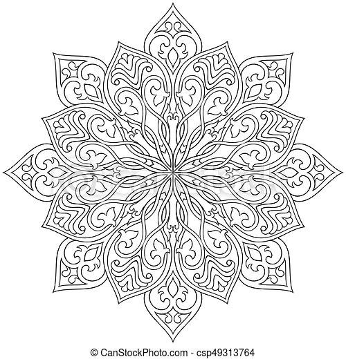 Dekorativ, abstrakt, mandala. Ornament., mandala., vektor ...