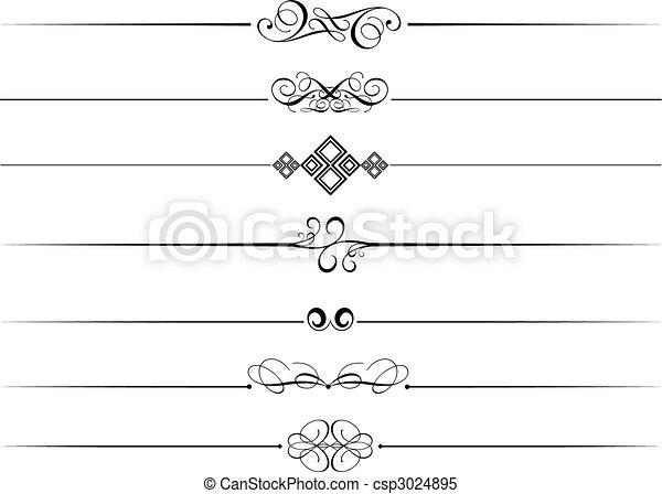 dekorativ, avdelare, sida - csp3024895