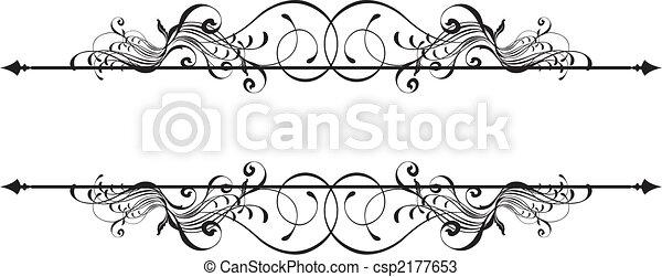 dekorativ, banner, schoenheit - csp2177653
