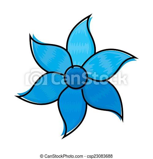 dekorativ, blaue blume - csp23083688