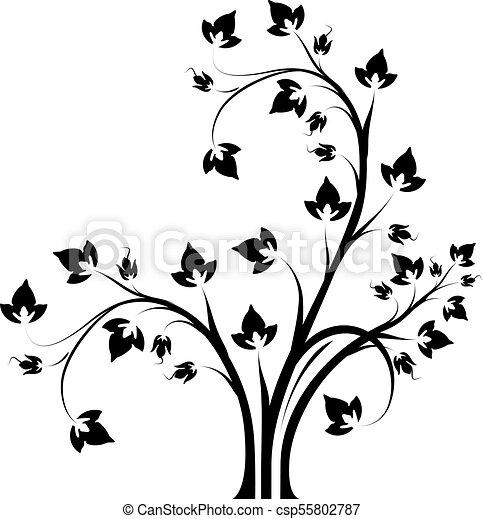 Dekorative Blumenbranche - csp55802787