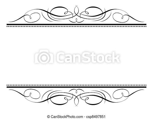 Kalligraphie Vignette, Schmuck-Penmanship-Dekorationsrahmen - csp8497851