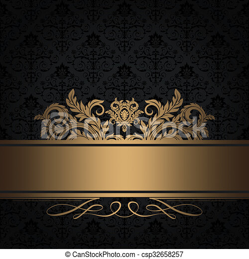 dekorativ hintergrund schwarz gold dekorativ gold border weinlese schwarzer. Black Bedroom Furniture Sets. Home Design Ideas