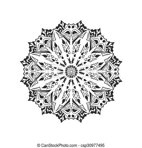 Dekorativ, mandala., abstrakt, elements., ethnisch.... EPS Vektoren ...