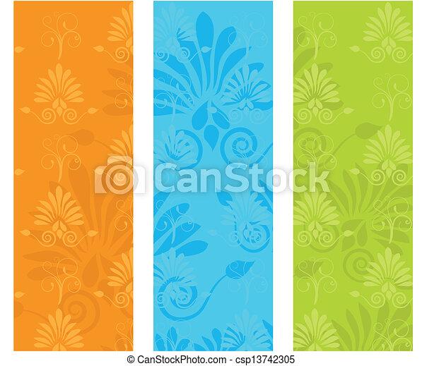 dekorativ, reizend, elemente, hintergrund, vektor - csp13742305