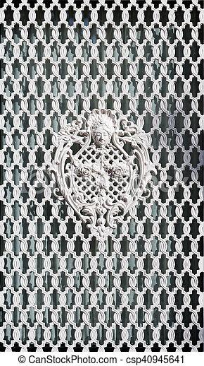 dekorativ, weißes, grille. - csp40945641