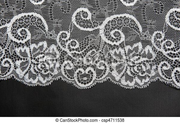 dekorativ, weißes, isoliert, spitze - csp4711538