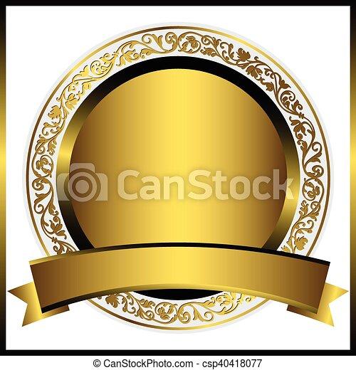 Dekoratives, rundes Blattgold - csp40418077