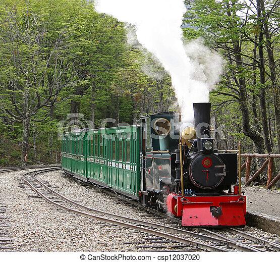 del, 列車, 歴史的, fuego, tierra - csp12037020