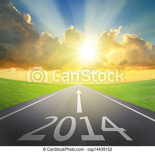 Adelante a 2014 concepto de año nuevo - csp14439152