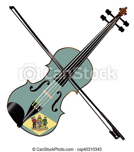 delaware state fiddle a typical violin with delaware state eps rh canstockphoto com fiddle player clipart