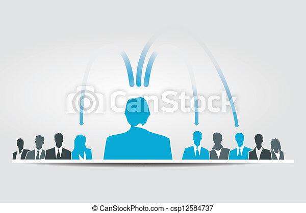 delegar, responsabilities - csp12584737