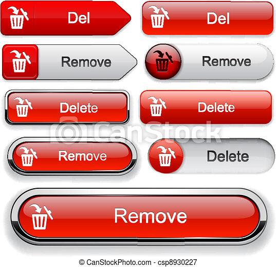 Delete high-detailed web button collection. - csp8930227