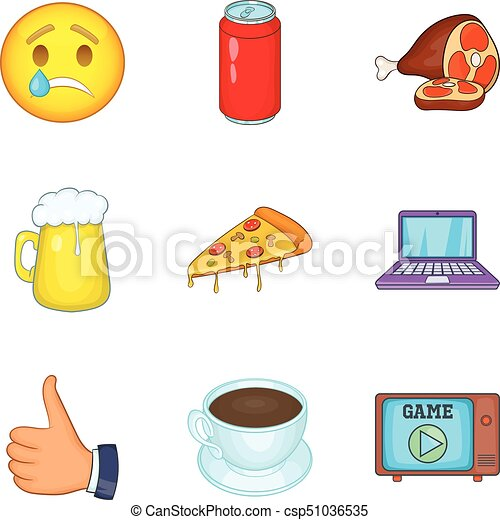 deleterious. vectors of deleterious effect icons set cartoon style o
