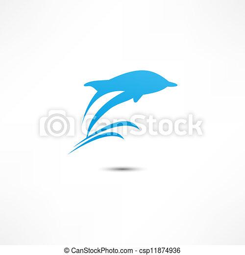 Delfín - csp11874936