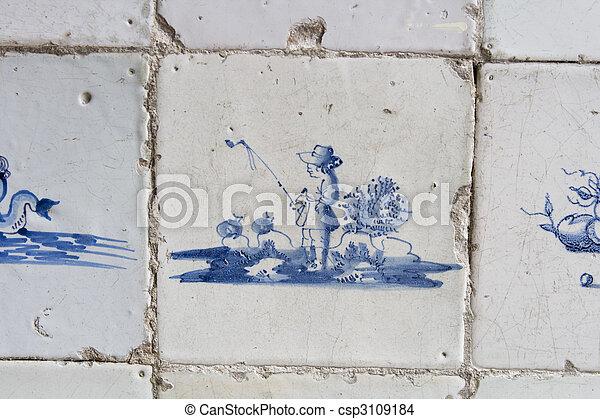 Tegel Delfts Blauw : Delft ouderwetse tegels blauwe origineel antieke eeuw