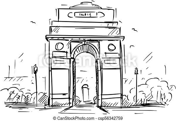 delhi croquis inde nouveau dessin anim portail delhi croquis illustration dessin anim. Black Bedroom Furniture Sets. Home Design Ideas