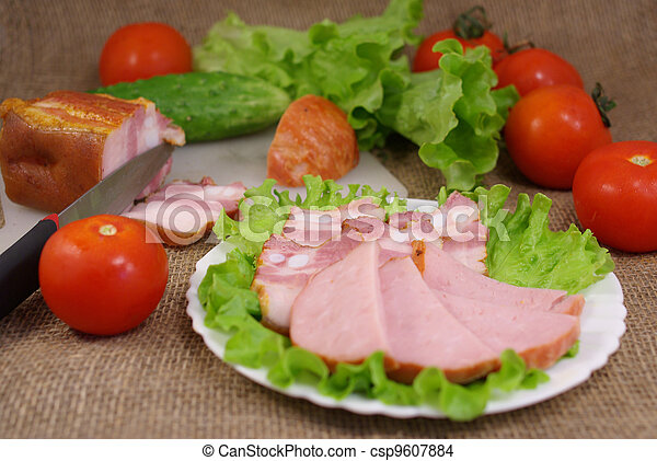 deli, 野菜, 肉 - csp9607884