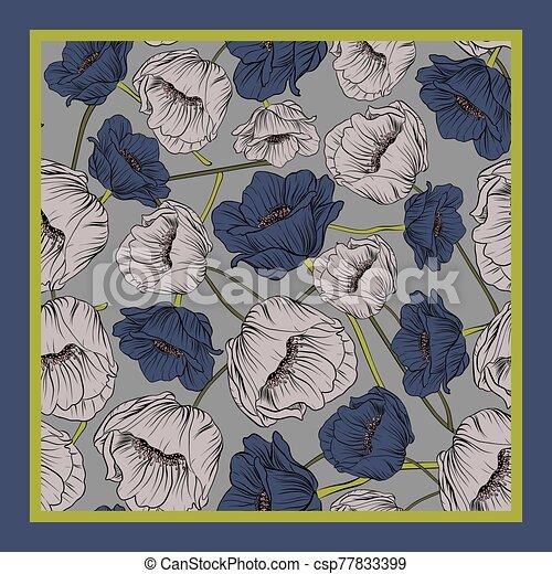 Delicate colors of silk scarf - csp77833399
