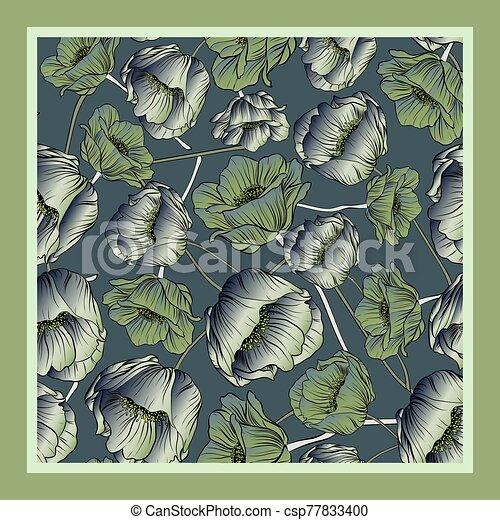 Delicate colors of silk scarf - csp77833400
