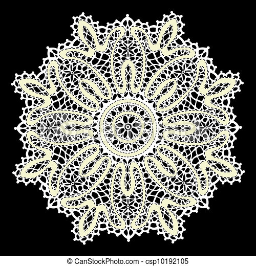 Delicate Lace Doily Pattern Model For Design Of Gift