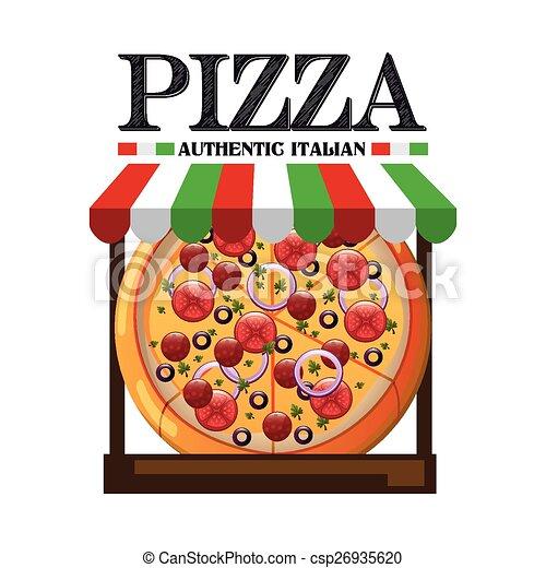 Una pizza deliciosa - csp26935620