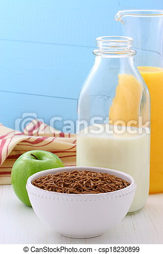 Delicious and healthy breakfast - csp18230899