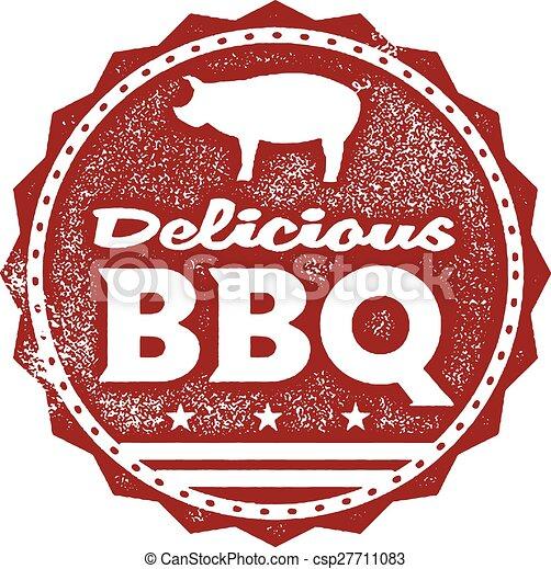 Delicious BBQ Menu Stamp - csp27711083