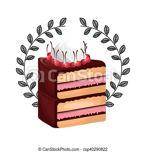 delicious cake baked goods vector illustration design vector rh canstockphoto ca baked goods clipart free baked goods clip art free