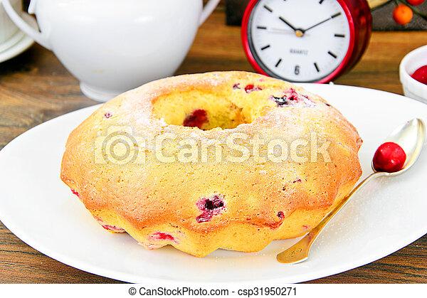 Delicious Cake with Raisins and Cranberries - csp31950271