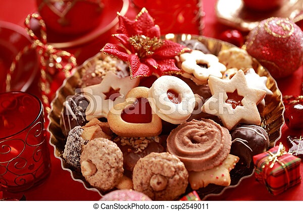 Delicious Christmas cookies - csp2549011