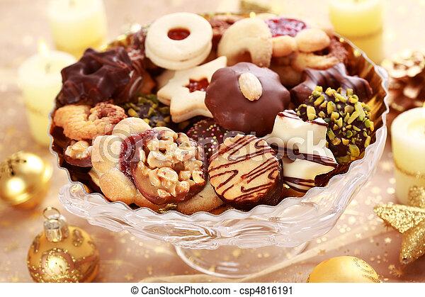 Delicious Christmas cookies - csp4816191