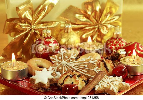 Delicious Christmas cookies - csp1261358