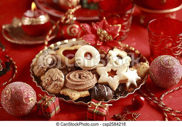 Delicious Christmas cookies - csp2584218