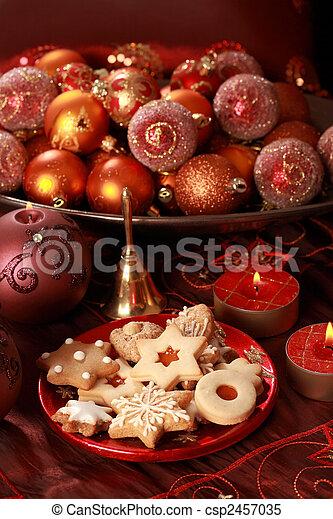 Delicious Christmas cookies - csp2457035