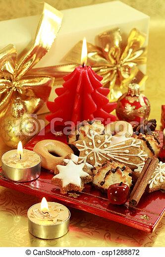 Delicious Christmas cookies - csp1288872
