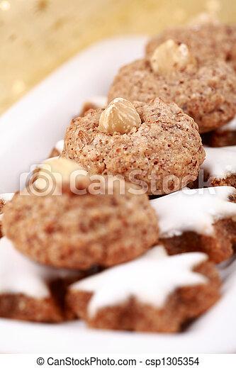 Delicious Christmas cookies - csp1305354