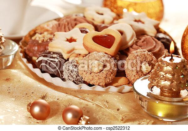 Delicious Christmas cookies - csp2522312